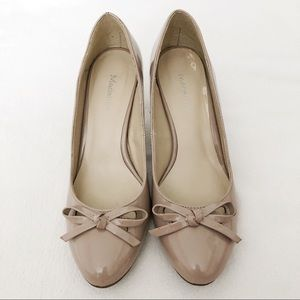 Madeline Nude Patent Pumps